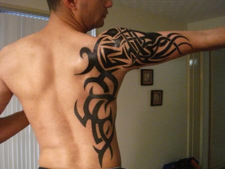 final tribal arm tattoo