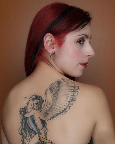 lover back tattoo