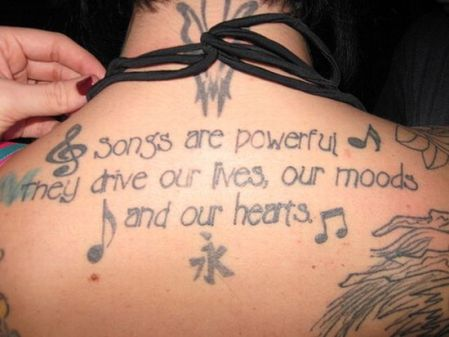 song back tatoo
