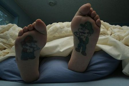 mario & luigi tattoo