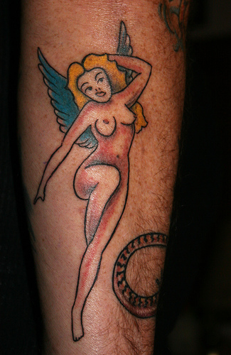 naked fairy tattoo