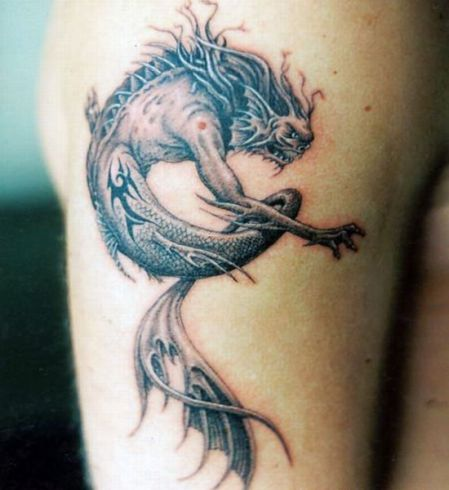 scary monster tattoo