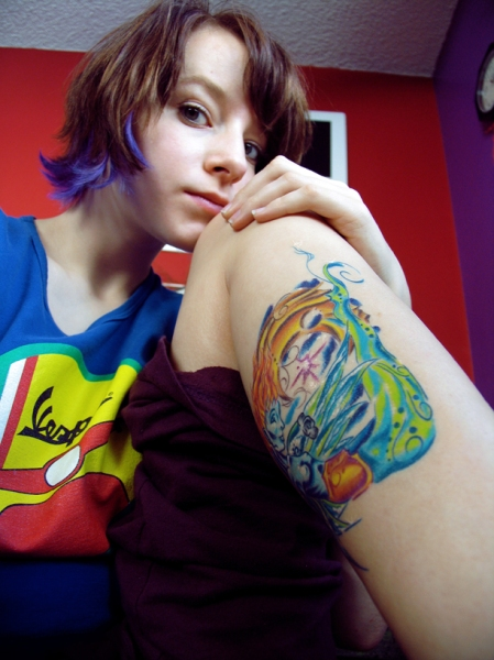 blue beach tattoo