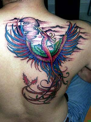 hot bird tattoo